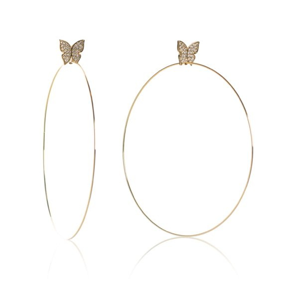"Large Gold Hoops 570x570 - Evelyn Signature 4"" Gold Hoop Earrings"