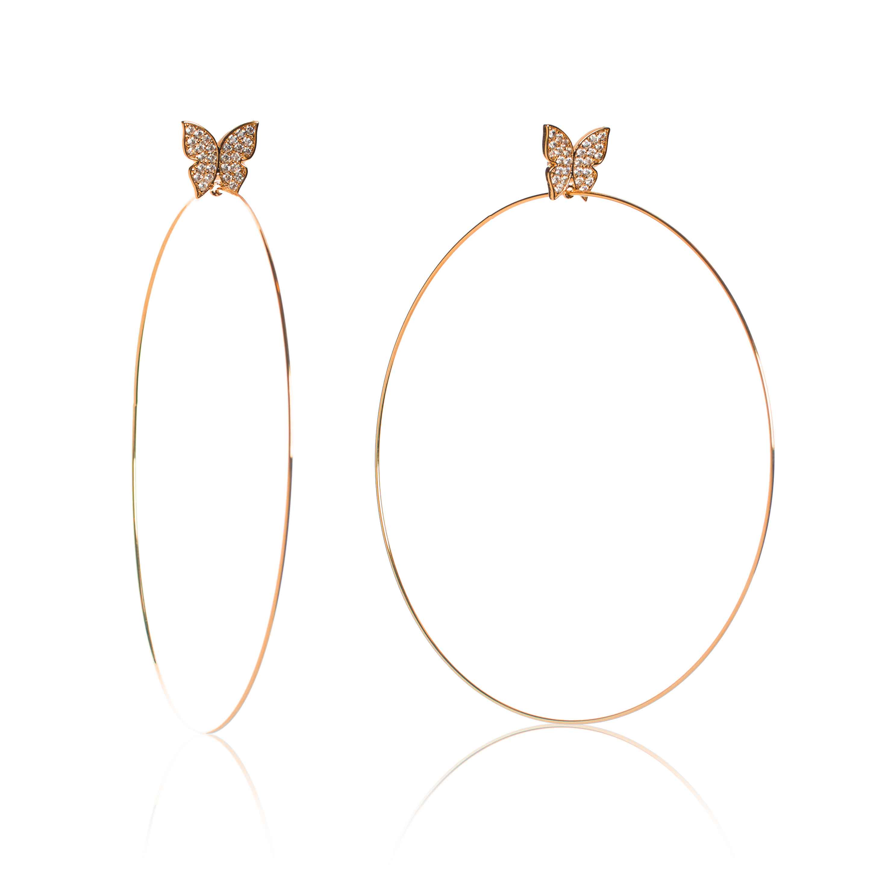 Evelyn Signature 4 Rose Gold Hoop Earrings