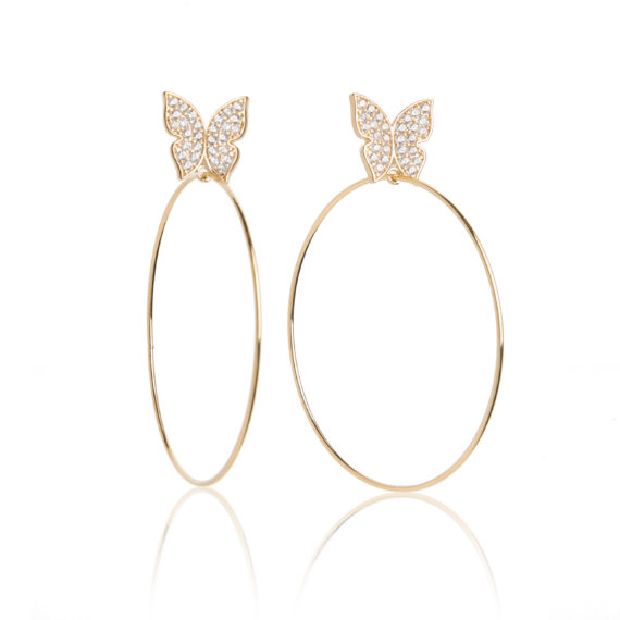 """Small Gold Hoops 570x570 - Evelyn Signature 2"""" Gold Hoop Earrings"""