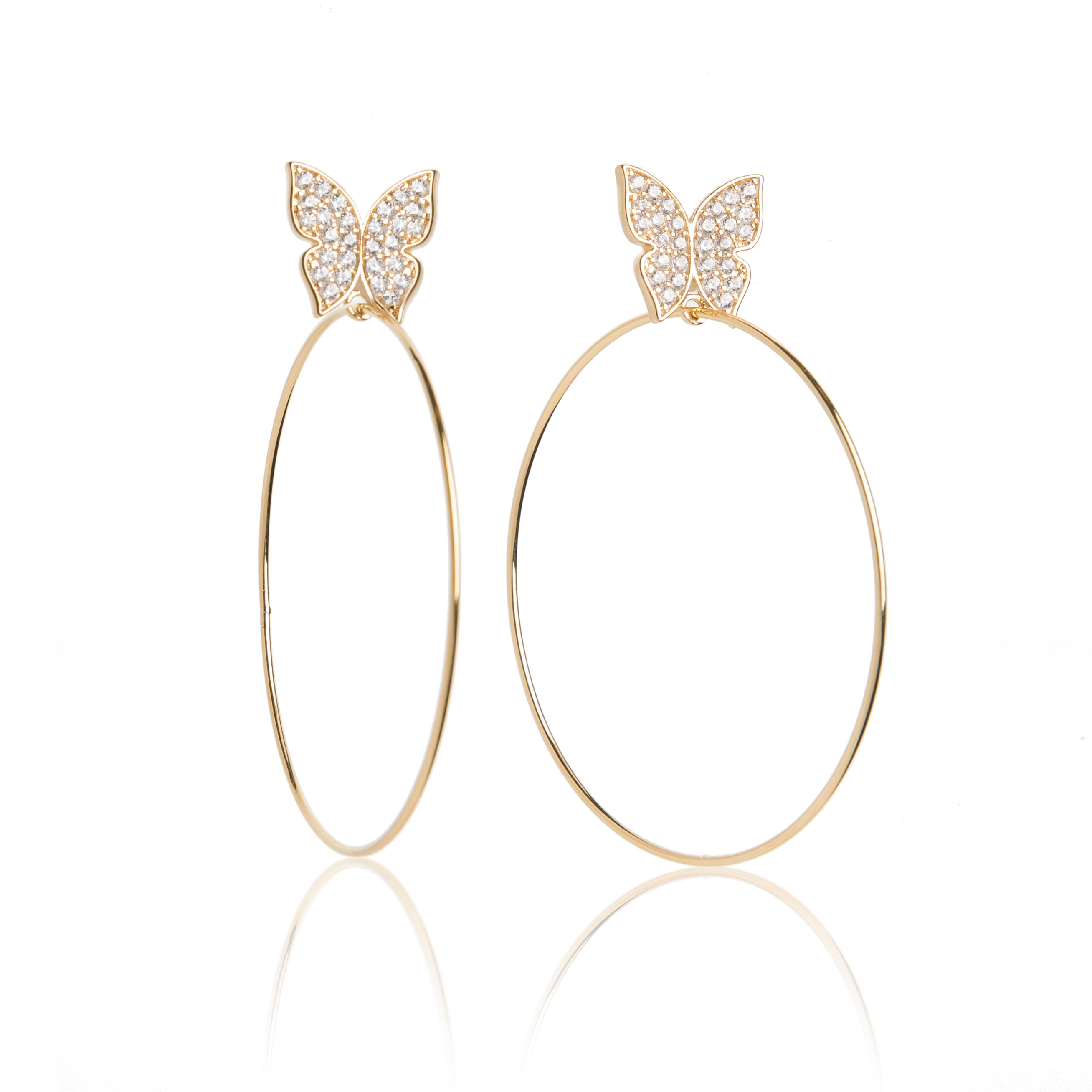 Evelyn Signature 2 Gold Hoop Earrings