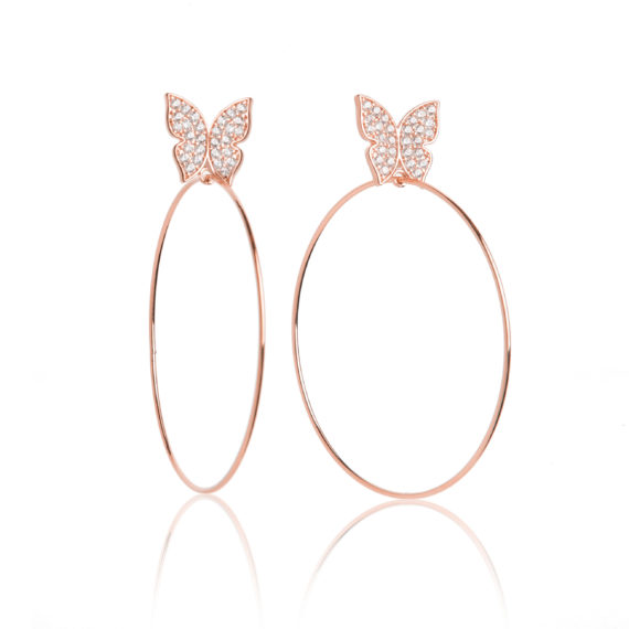 "Small Rose Gold Hoops 570x570 - Evelyn Signature 2"" Rose Gold Hoop Earrings"