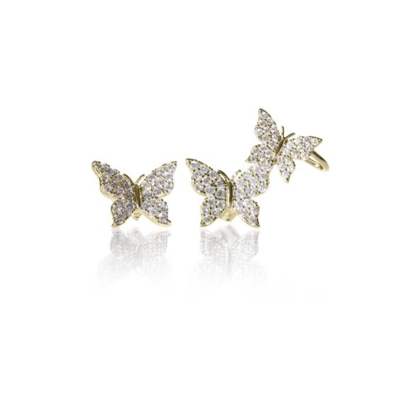 JE 1810002 1 570x570 - BX GLOW Signature Butterfly Studs Gold Studs Earrings