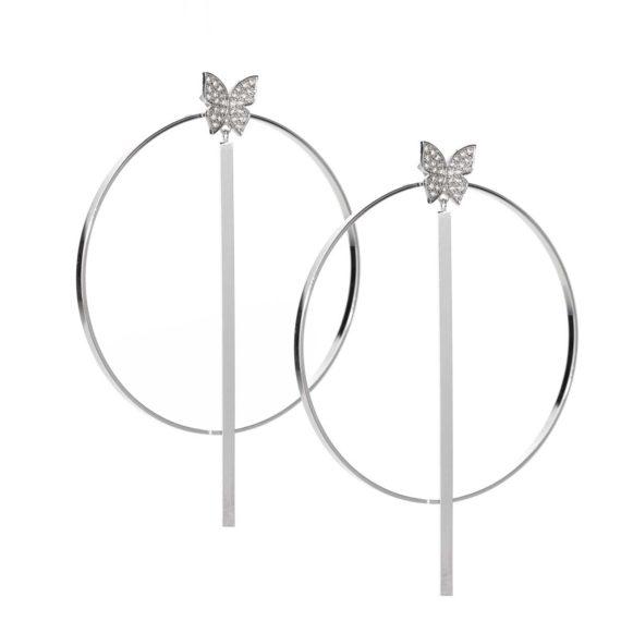 "JE 1810003 1 570x570 - BX GLOW Transforming Duo 3"" White Gold Hoop Earrings"