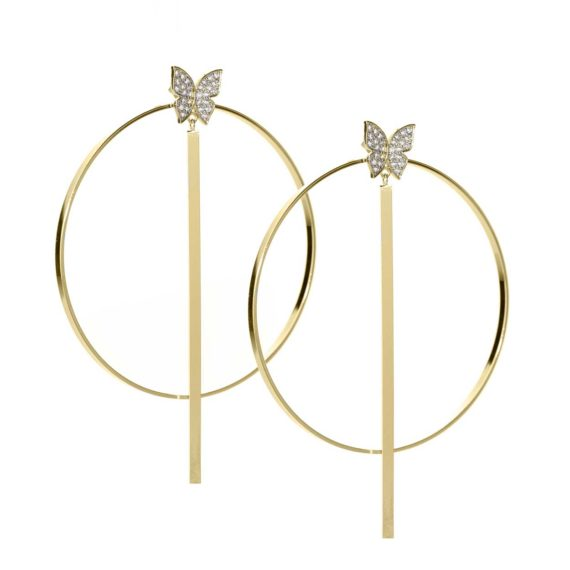 "JE 1810004 1 570x570 - BX GLOW Transforming Duo 3"" Gold Hoop Earrings"