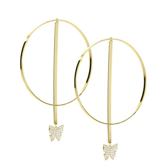 "JE 1810006 1 570x570 - BX GLOW Transforming Trio 3"" Gold Hoop Earrings"