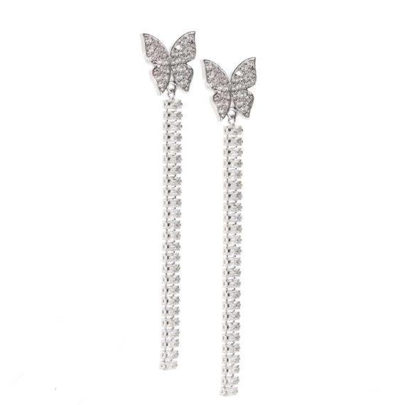 JE 1810007 1 570x570 - BX GLOW Crystal Linear Earrings White Gold Drop earrings