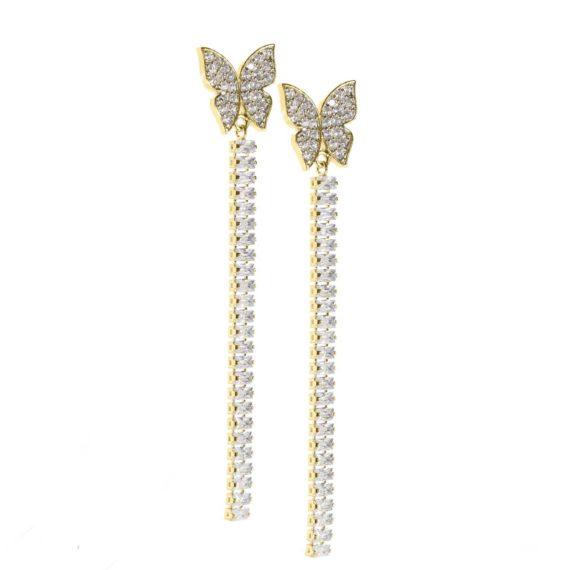 JE 1810008 1 570x570 - BX GLOW Crystal Linear Earrings Yellow Gold Drop earrings
