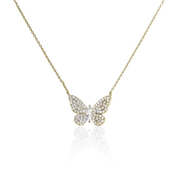 JE 1810010 1 570x570 - BX GLOW Signature Butterfly Necklace Gold Necklace with Crystals