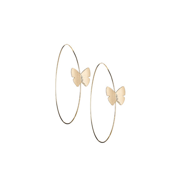"Continuous Butterfly Hoops 2 in  570x571 - Continuous Butterfly Hoop 2"" Earrings"